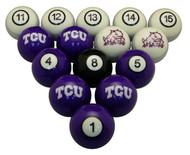 TCU Horned Frogs Billiard Ball Set