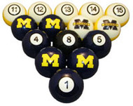 Michigan Wolverines Billiard Ball Set