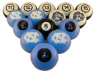 North Carolina Tar Heels Billiard Ball Set