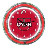 """Utah Utes Neon Wall Clock -14"""""""