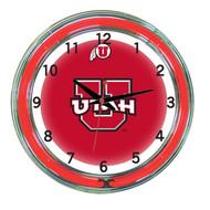 """Utah Utes Neon Wall Clock - 18"""""""
