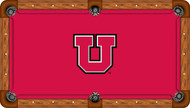 Utah Utes Billiard Table Felt - Professional 3