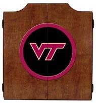 Virginia Tech Dart Board Cabinet
