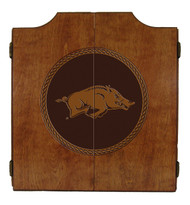 Arkansas Razorbacks Dart Cabinet - Medallion Series