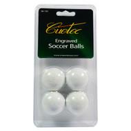 Cuetec Engraved Foosballs 4 Pack