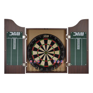 DMI Sports Dartboard Cabinet Set with Rustic Wood Finish