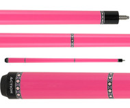 Action Pool Cues VAL27 Pink w/ Silver Rings