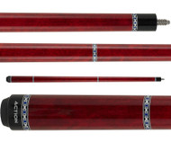 Action Pool Cues VAL29 Red w/ Silver Rings