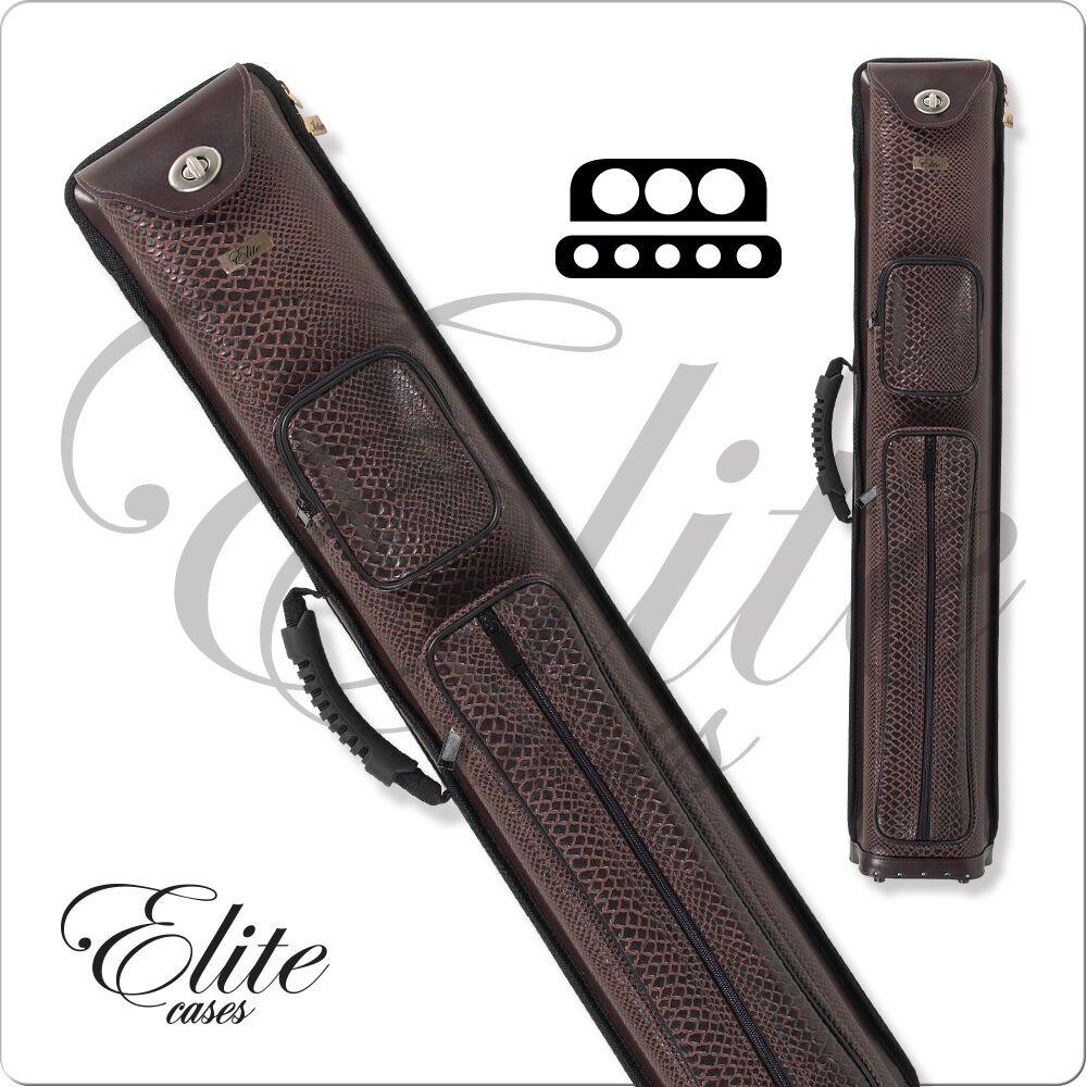 Elite ECN35 Black Vinyl Molded Interior Spring Loaded 3x5 Pool//Billiard Cue Case