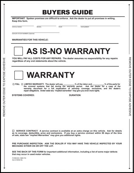 graphic regarding As is No Warranty Printable Form referred to as Customers Advisor Sort ! section Sticker