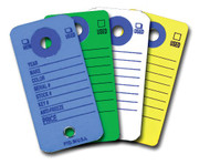 Colored Automotive Paper Key Tags