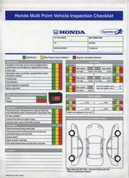 Honda Multi Point Vehicle Inspection Checklist