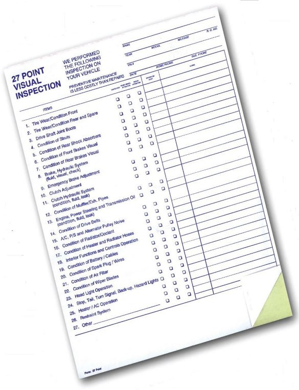 27 Point Inspection Forms on tank inspection checklist, furniture inspection checklist, annual inspection checklist, utv inspection checklist, suv inspection checklist, golf cart operator checklist, brake inspection checklist, ambulance inspection checklist, real estate inspection checklist, computer inspection checklist, air compressor inspection checklist, trailer inspection checklist, bmw inspection checklist, engine inspection checklist, boat inspection checklist, van inspection checklist, automobile inspection checklist, commercial inspection checklist, snowmobile inspection checklist, bike inspection checklist,
