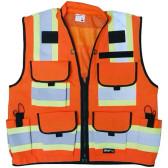 SITEPRO CLASS 2 PREMIUM ORANGE SURVEYOR'S SAFETY VEST (23-750-FO)