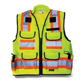 SITEPRO CLASS 2 PREMIUM LIME SURVEYOR'S SAFETY VEST (23-750-FL)