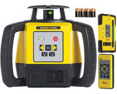 Leica Rugby 640G Green Beam Laser Kit w/ 120G Detector, RC400 Remote & Alk. Batteries (6011488)