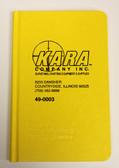 """Field Book Casebound 8X4"""" - Yellow"""