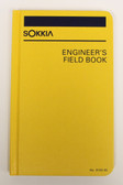 "Sokkia Engineer's Field Book - Case Bound 8X4"" - Yellow"