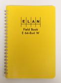 Elan Publishing Field Book E 64-8x4 W - Wire Bound - Yellow