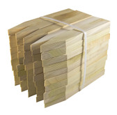 "1"" x 2"" x 12"" or 18"" Premium Hardwood Flats - Bundle of 50"