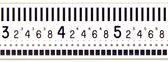"""Brunson 6000 Series 0.001 Inch White Face Scale /5-10-20"""""""
