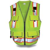 SitePro 550 Surveyor's Hi-Vis Lime Safety Vest, Class 2
