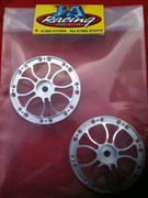 Jmex 4 piece aqua spoke wheels centres interchangeable with the 4 piece split rims.