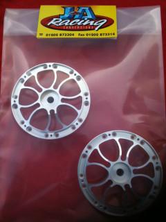 Jmex 4 piece aqua spoke wheels centres interchangeable with the 4 piece split rims.