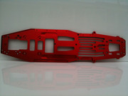 Fg 1/5th scale 465mm Long wheelbase pro alloy chassis. Available in Red.