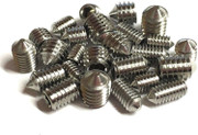 Grub Screws Metric Thread (Mixed 40 PACK) A2 Stainless Steel 10 X M3,M4,M5 & M6 x 5mm Socket Cone Point Allen Key Grub Screw Free UK Delivery