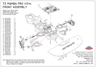 T3 Mamba Pro Front Assemble Exploded