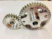 FG Large scale main drive gears set 40t & 23t gears CNC Machined