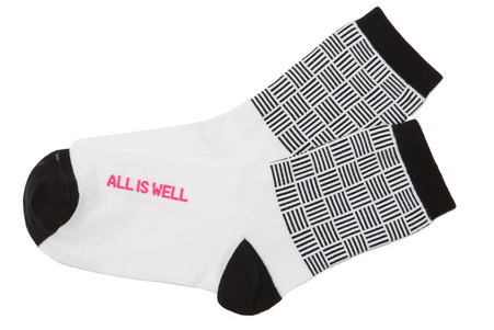 All is well inspirational socks by Posie Turner
