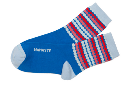 Namaste yoga mantra socks by Posie Turner