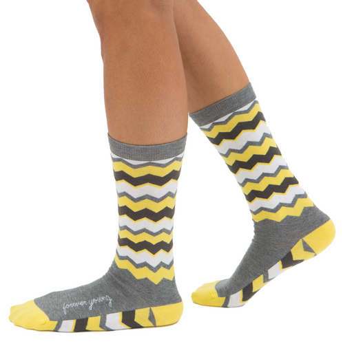 Forever Young chevron unique inspirational gift socks by Posie Turner.
