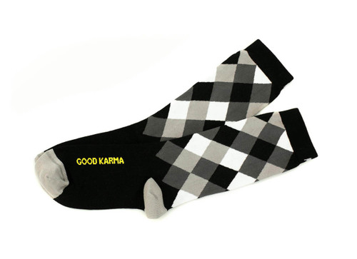 Modern Good Karma by Posie Turner, the original mantra socks