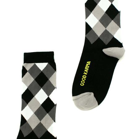 Good karma modern socks with good words by Posie Turner