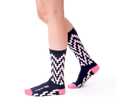 Love My Tribe unique gift socks for your friends and family by Posie Turner