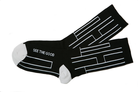 See the good inspirational gift socks by Posie Turner