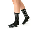 Black and white modern and inspiring socks by Posie Turner