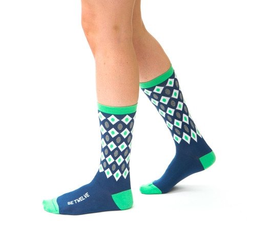 Be Twelve Womens Seattle Seahawks Blue Friday socks