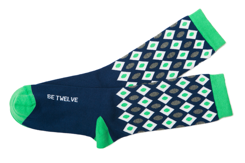 Be Twelve luxury peruvian pima cotton womens seahawks socks