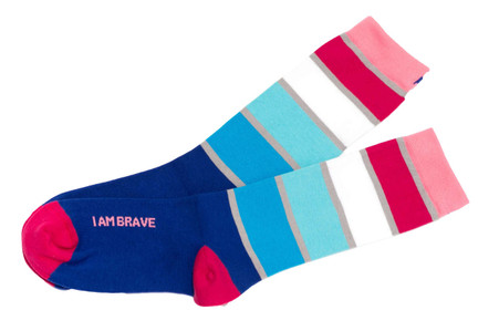I am Brave original mantra socks by Posie Turner