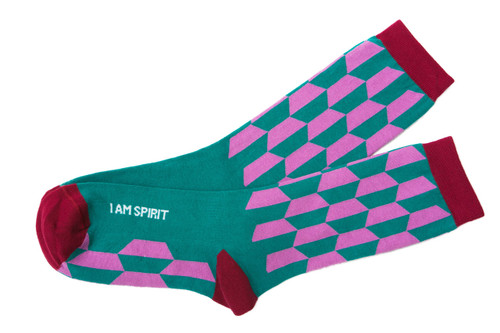 I Am Spirit mantra socks by Posie Turner