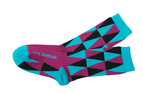 Soul Searcher inspirational socks by Posie Turner.