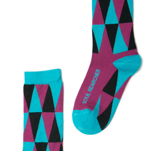 Soul Searcher Super Soul Sunday socks by Posie Turner.