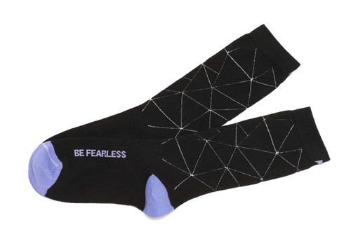 Be Fearless inspirational socks by Posie Turner
