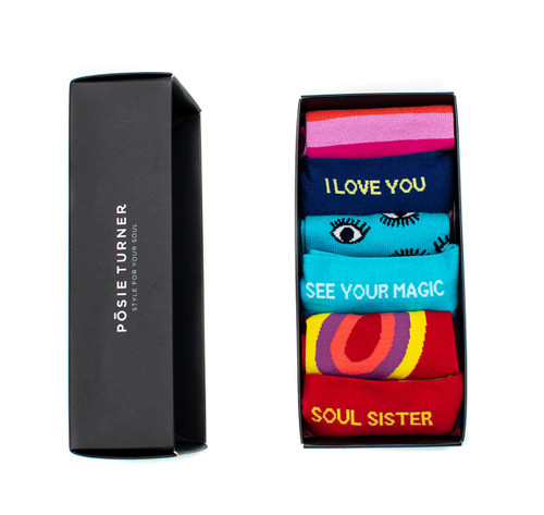 Posie Turner Socks Custom Gift Box for Women - An inspiring gift!