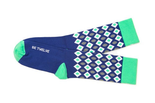 Seattle Seahawks unique luxury gift socks by Posie Turner