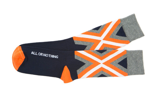All or Nothing mens golf socks by Posie Turner